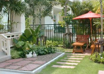 Дизайн дома в саду