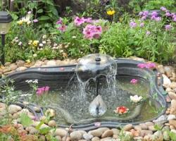 Создаем декоративный садовый водоем