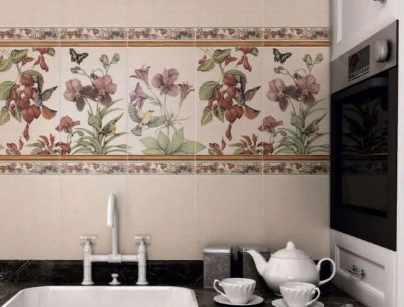 Английская коллекция : плитка из этой серии выполнена в спокойных тонах, основные цвета - серый, белый, кремовый. Такая плитка лучше всего подчеркнет дизайн английского стиля.