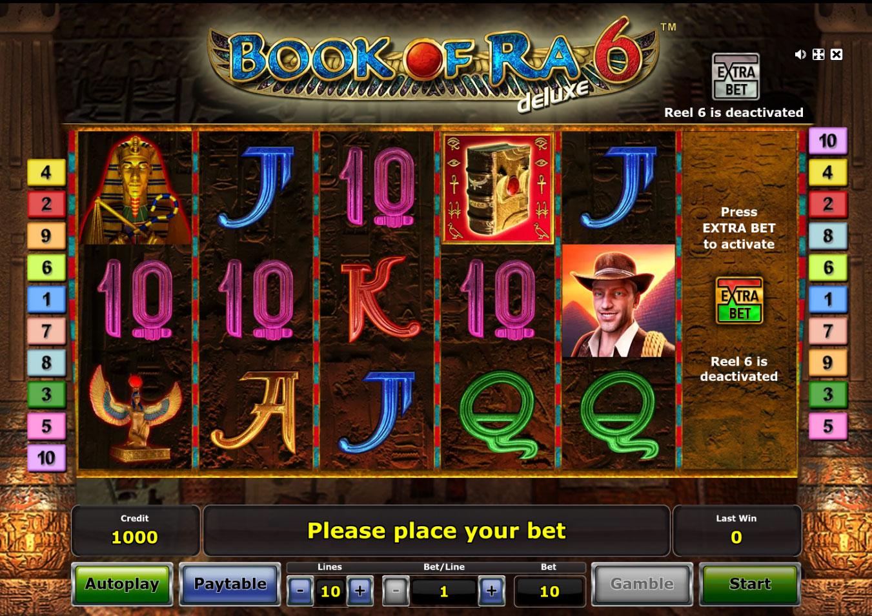 Book of Ra Deluxe 6  играть в казино Вулкан 24